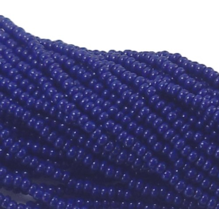 Blue Opaque Czech 11/0 Glass Seed Beads 1 Full Hank Preciosa