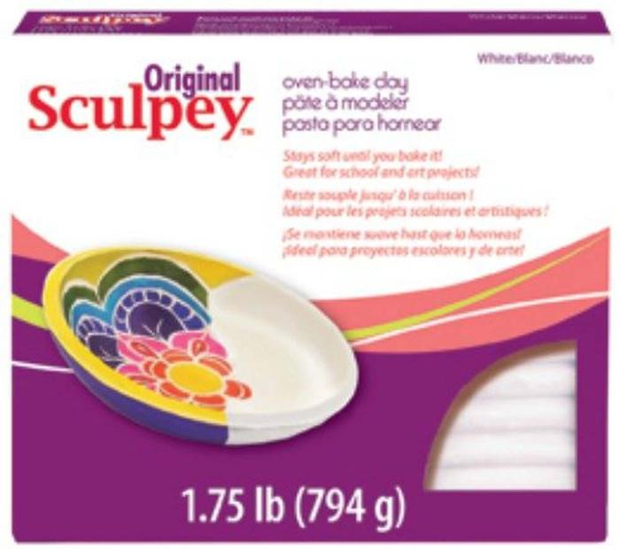 Sculpey Original Polymer Clay, 1.75-Pound, White
