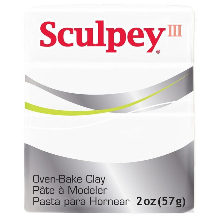 Sculpey III Original Polymer Clay, 2oz, White