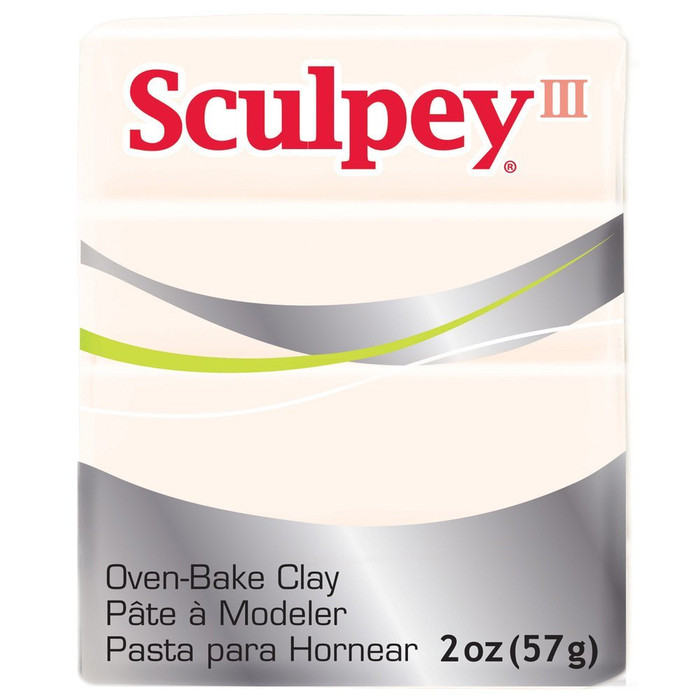 Sculpey III Original Polymer Clay, 2oz, Transparent