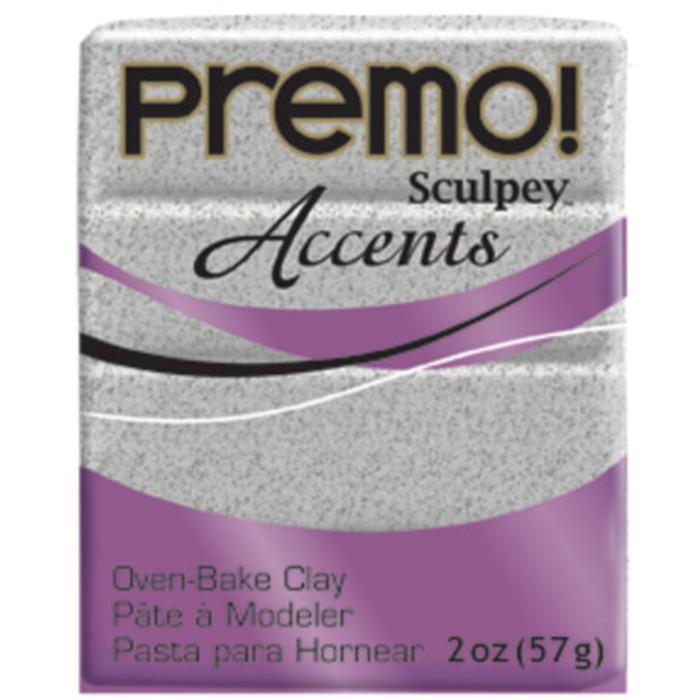Sculpey Premo Accents Polymer Clay 2oz Gray Granite