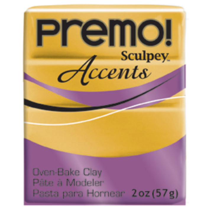 Sculpey Premo Accents Polymer Clay 2oz Gold