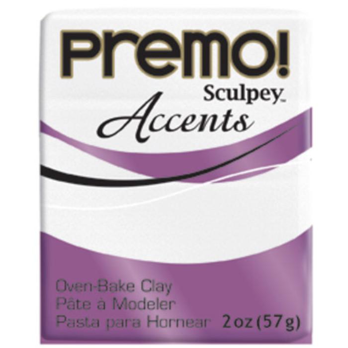 Sculpey Premo Accents Polymer Clay 2oz Frost White Glitter