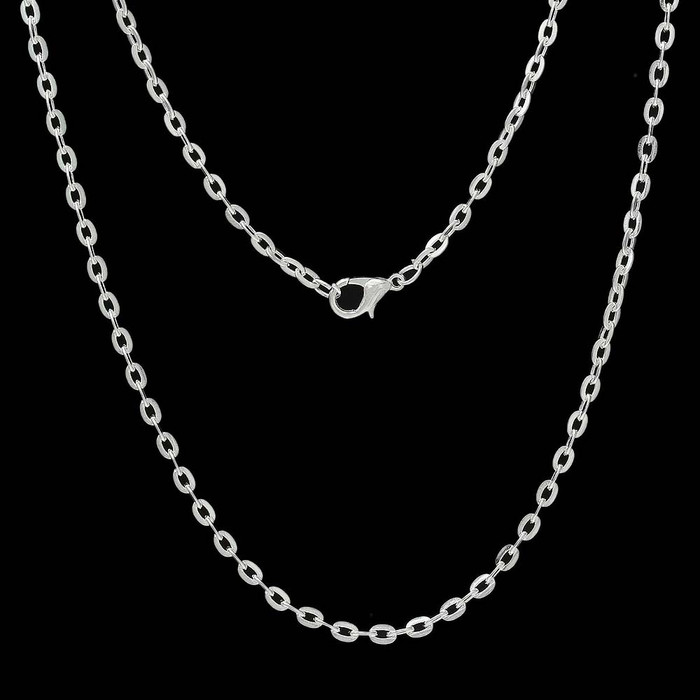 12 Pack Silver Plated 3mm Cable Chain Necklace 30 Inch