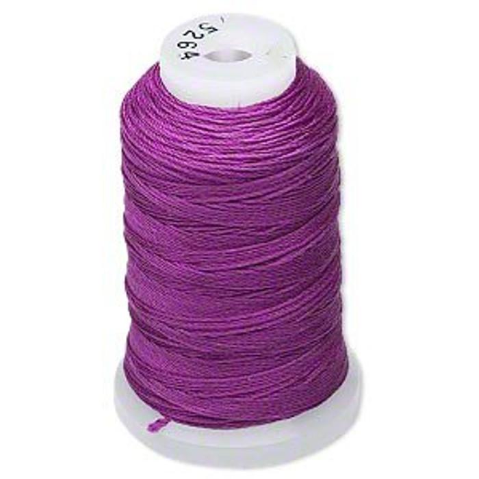 Silk Beading Thread Cord Size FF Plum 0.015 Inch 0.38mm Spool 115 Yd