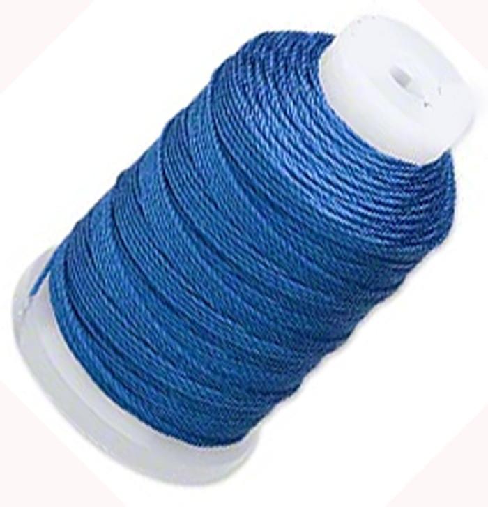 Silk Beading Thread Cord Size FF Royal Blue 0.015 Inch 0.38mm Spool 115 Yd