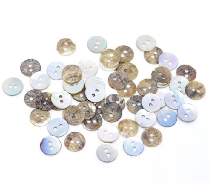 Mother of Pearl Round Buttons Scrapbooking 11mm, Sold Per Pack of 200