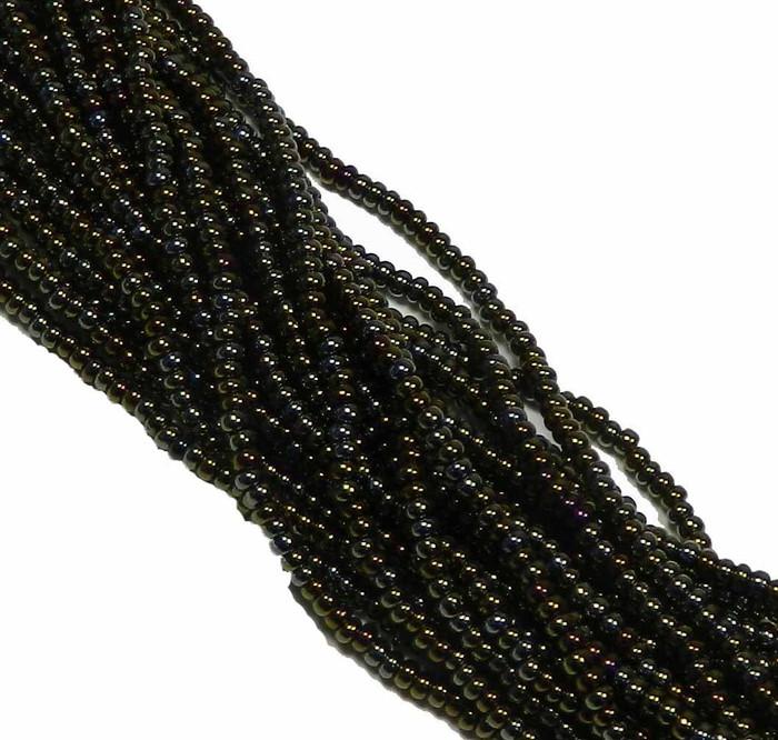 Iris Brown Metallic Preciosa Czech Glass 6/0 Seed Bead on Loose Strung 6 String Hank