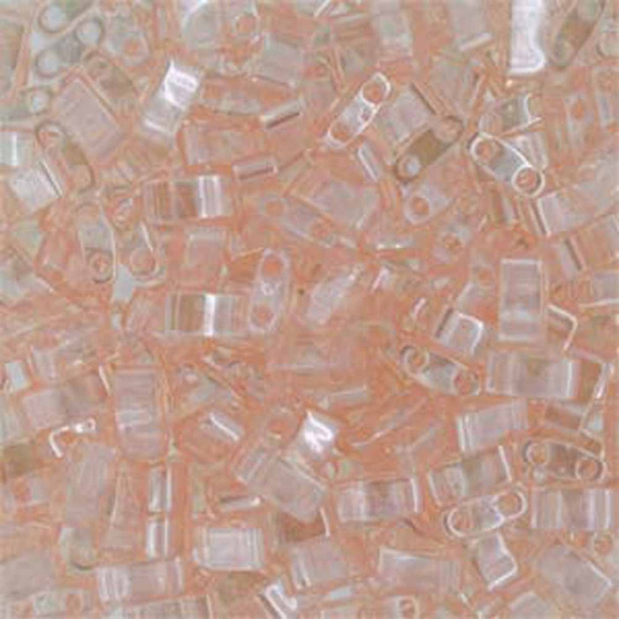 Light Rose Luster Half Tila Beads 7.2 Gram Miuki Square 5mm 2 hole