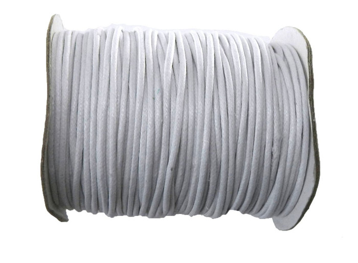 80 Yards White Waxed Cotton Cord 2mm to 3mm for Bracelet/ Necklace 80 Meter
