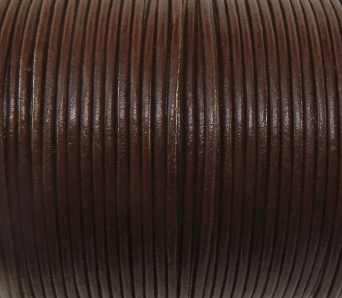 Imported India Leather Cord 2mm Round 5 Yards Brown