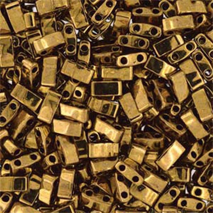 Dark Bronze Half Tila Beads 7.2 Gram Miuki Square 5mm 2 hole