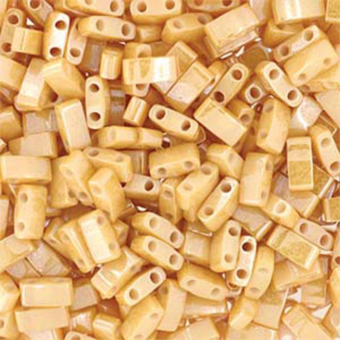Carmel Pearl Ceylon Half Tila Beads 7.2 Gram Miuki Square 5mm 2 hole
