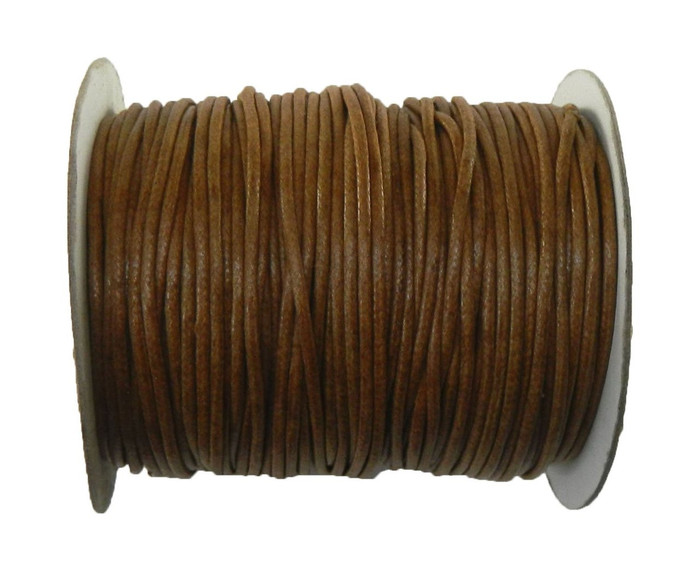 80 Yards Light Brown Waxed Cotton Cord 2mm to 3mm for Bracelet/ Necklace 80 Meeter