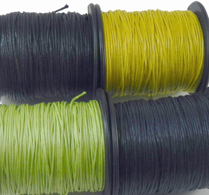 1mm Waxed Cotton Jewelry Macrame Craft Cord 300 Yards Wolven Round MIX1 2