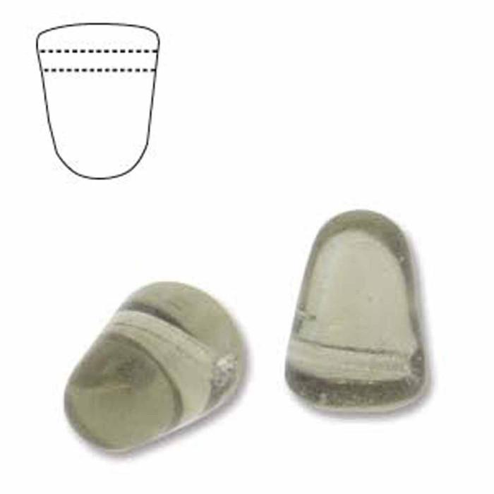 Black Diamond 20 Czech Glass Gumdrop Beads 7.5x10mm