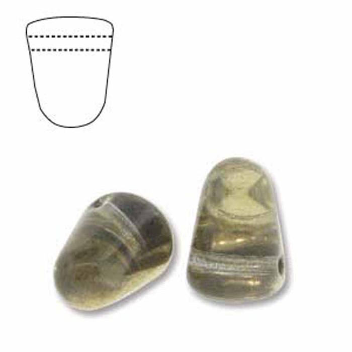 Crystal Amber 20 Czech Glass Gumdrop Beads 7.5x10mm