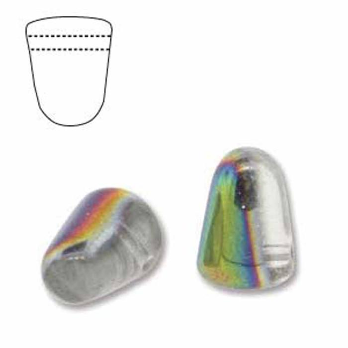 Crystal Vitrail 20 Czech Glass Gumdrop Beads 7.5x10mm