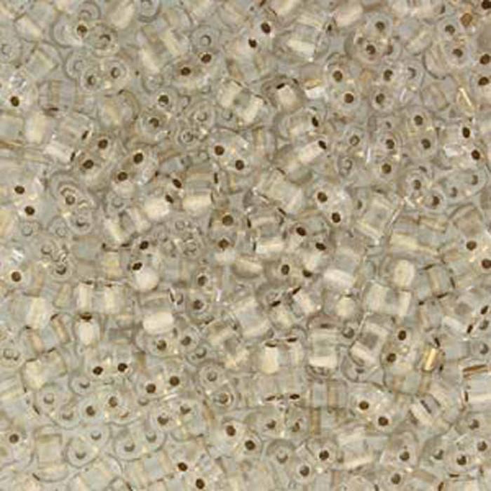Crystal Bronze Lined BI-BO Czech Glass 2 hole Seed Beads 5.5x2.8mm 22gr
