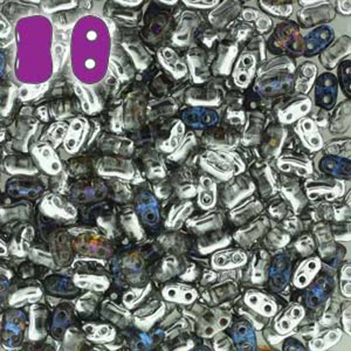 Crystal Helio BI-BO Czech Glass 2 hole Seed Beads 5.5x2.8mm 22gr