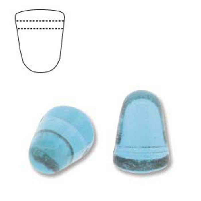 Light Aqua 20 Czech Glass Gumdrop Beads 7.5x10mm