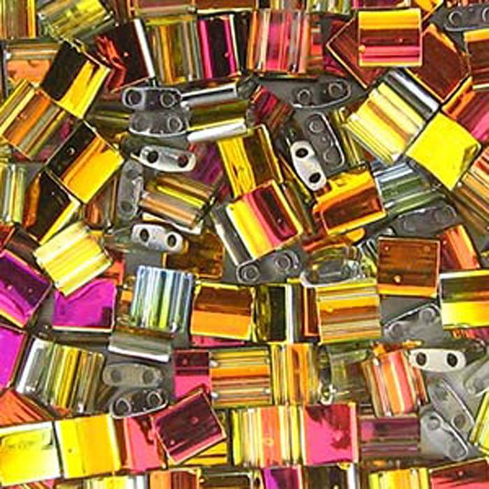 Chrystal Marea Miyuki Tila Beads 7.2gm 2 Hole Seed Bead 5x5mm