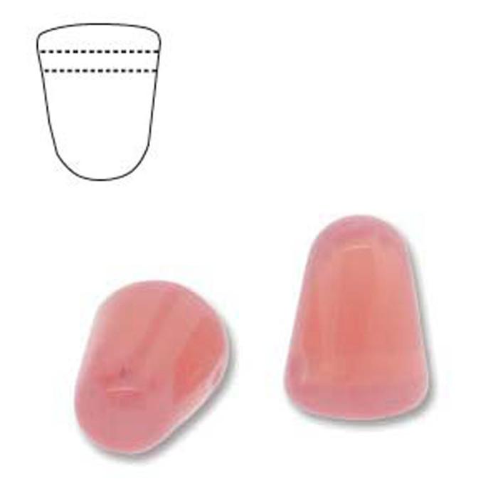 Milky Pink 20 Czech Glass Gumdrop Beads 7.5x10mm