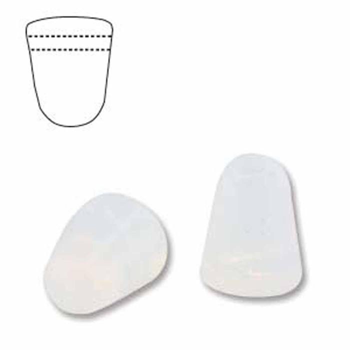 Milky White 20 Czech Glass Gumdrop Beads 7.5x10mm