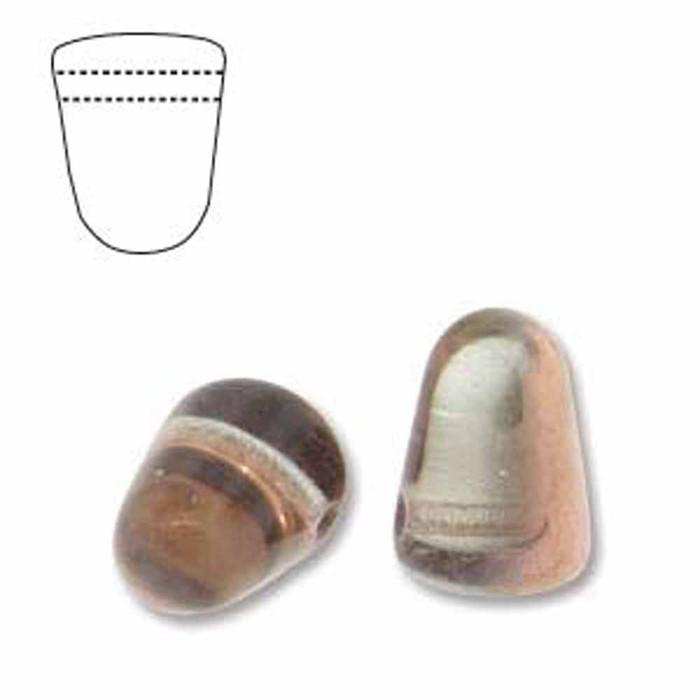 Crystal Gold Capri 20 Czech Glass Gumdrop Beads 7.5x10mm