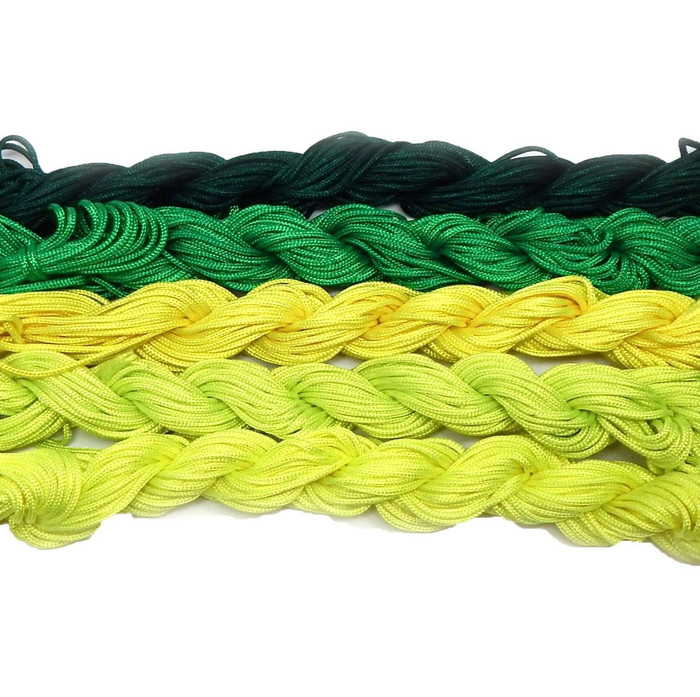 Chinese Knotting Beading Cord Mixed Approx 1.5mm 5 (12 Yard Skeins) for Crafts and Knotted Jewelry Like Shamballa Bracelets 4