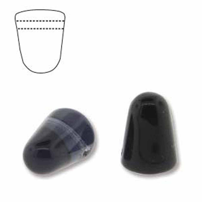 Montana 20 Czech Glass Gumdrop Beads 7.5x10mm