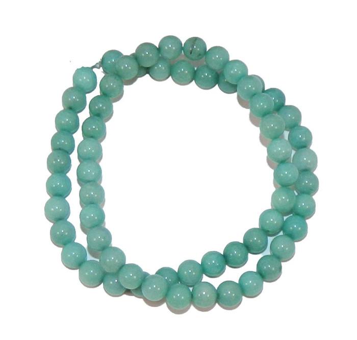 "6mm Amazonite Dyed  Round Beads 40cm 15""  Stone"
