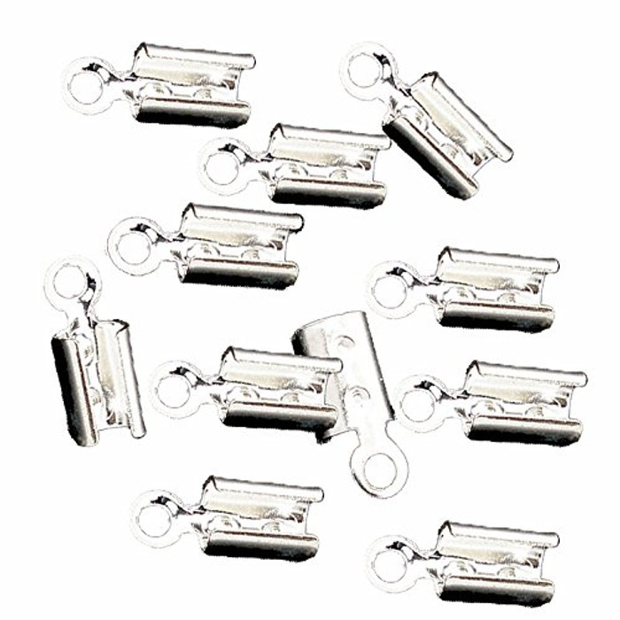 250 Cord End/tip Crimp Silver Plated Glue-in Style 8x3mm
