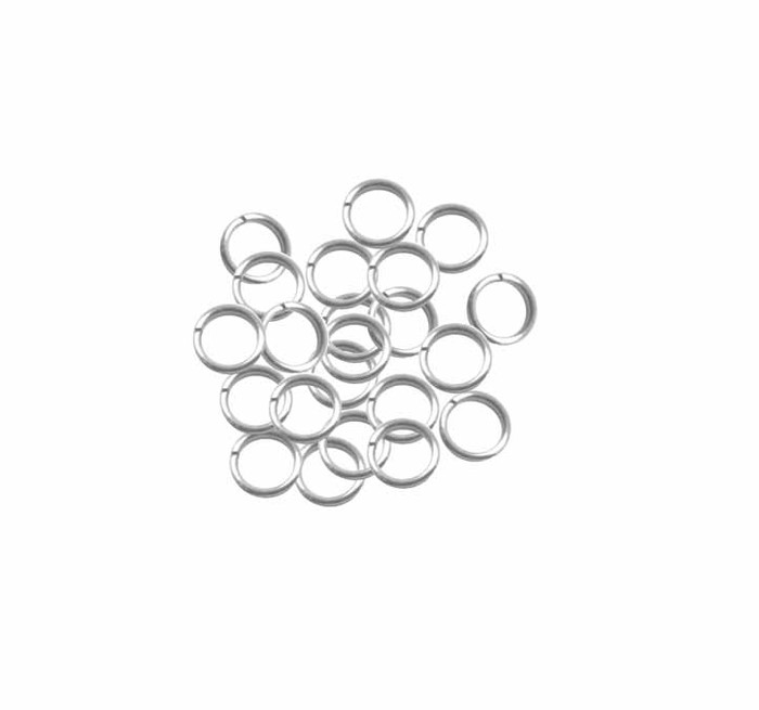 95 Round 6.5mm 19 Gauge Stainless Steel Jump Rings USA