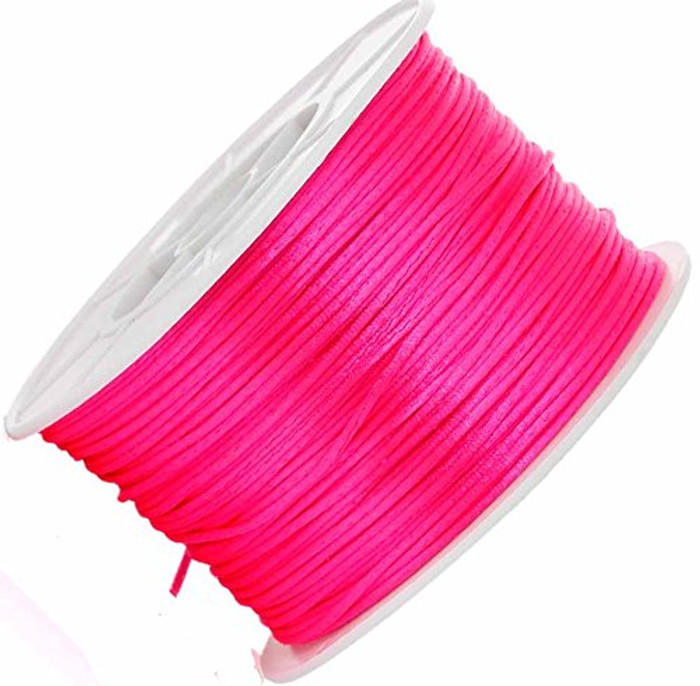 1mm Pink Orlon Jewelry Macrame Craft Cord 100 Yard Spool