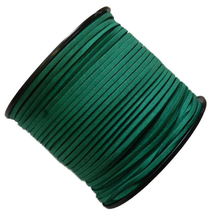 Rockin Beads Turquoise Green Micro Fiber Faux Suede 3mm 90 Yard Spool Flat Lace Beading Craft Cord