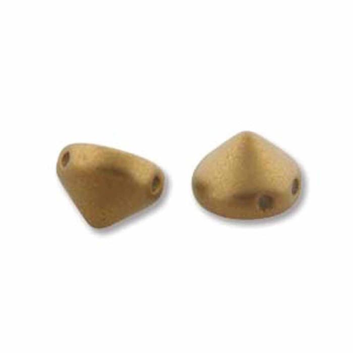 Antique Brass Metalic Matte 20 Czech Glass Tipp 2 Hole 8mm Chocolate Chip Beads