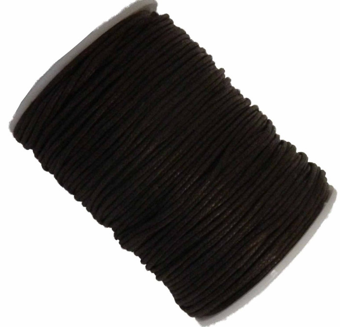 Brown 1.5mm Waxed Cotton Jewelry Macrame Craft Cord 80 Yards Wolven Round