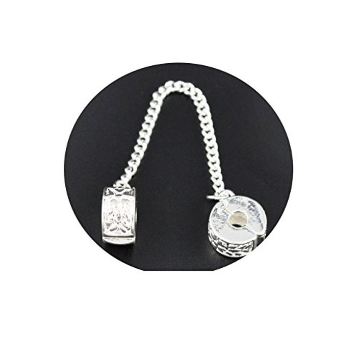 5 Safety Snake Chain with Stoper Clips Fits Europian Charm Bracelets 2