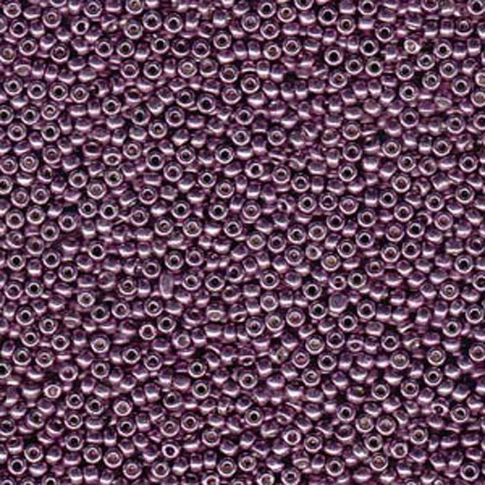 Eggplant 22 Grams Miyuki 8/0 Seed Bead Duracoat Galvanized 22 Gram