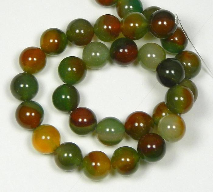 "12mm Rainbow Agate Round Beads 40cm 15"" Stone"