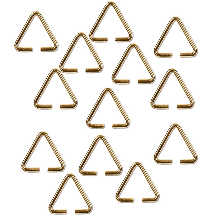 Triangle Bail 13 7mm Gold Plated Brass Findings Thick 12 Guage 144pc