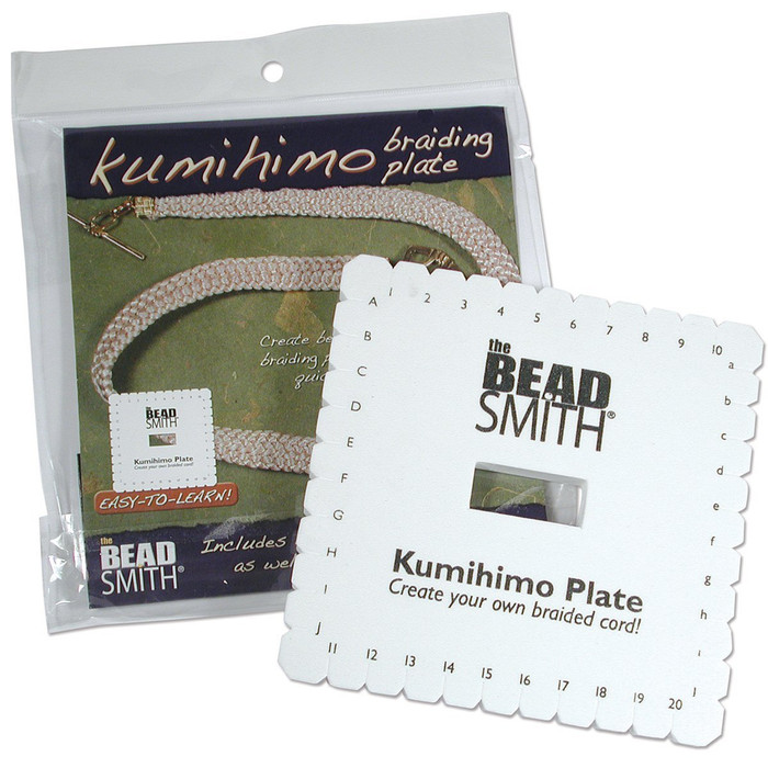 Beadsmith Kumihimo Square Disk with English Instructions, 6-Inch