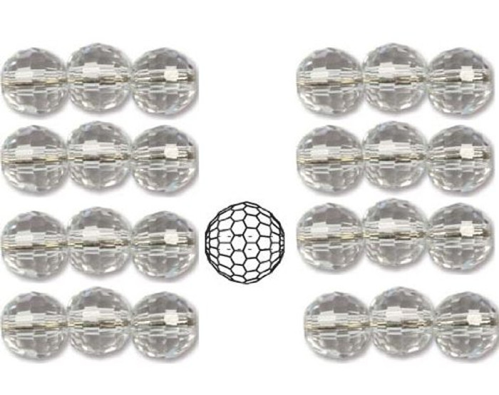 8mm Crystal Faceted Round Rich Cut Clear Beads 498 19 603 Package of 24