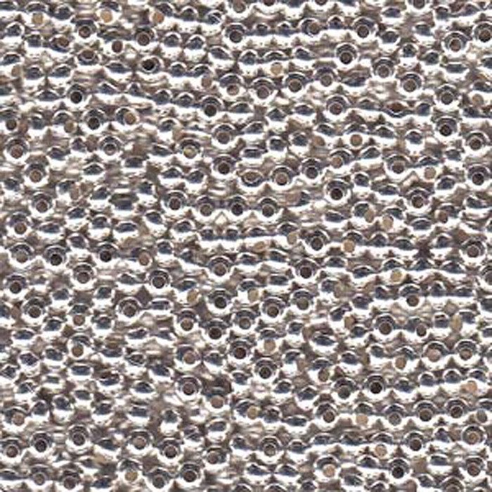Genuine Metal Seed Beads 6/0 Silver Plated 30 Grams