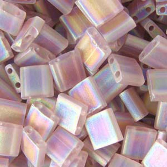 Amethyst Ab Transp Matte Miyuki Tila Beads 7.2gm 2 Hole Seed Bead 5x5mm