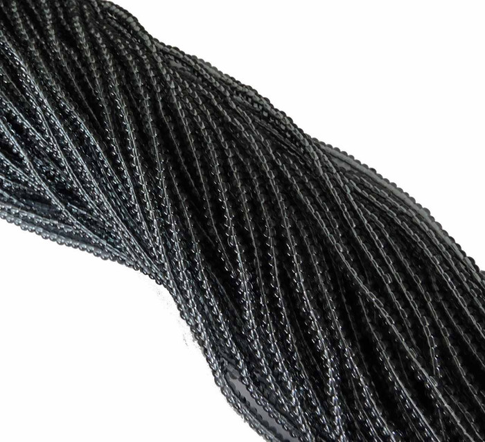 Black Diamond Trans Czech 11/0 Glass Seed Beads 1 (6 String Hank) Preciosa