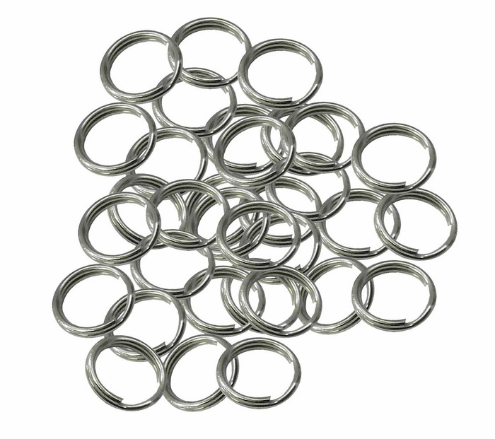 48 Split Ring  Nickel Plated Steel 11mm USA
