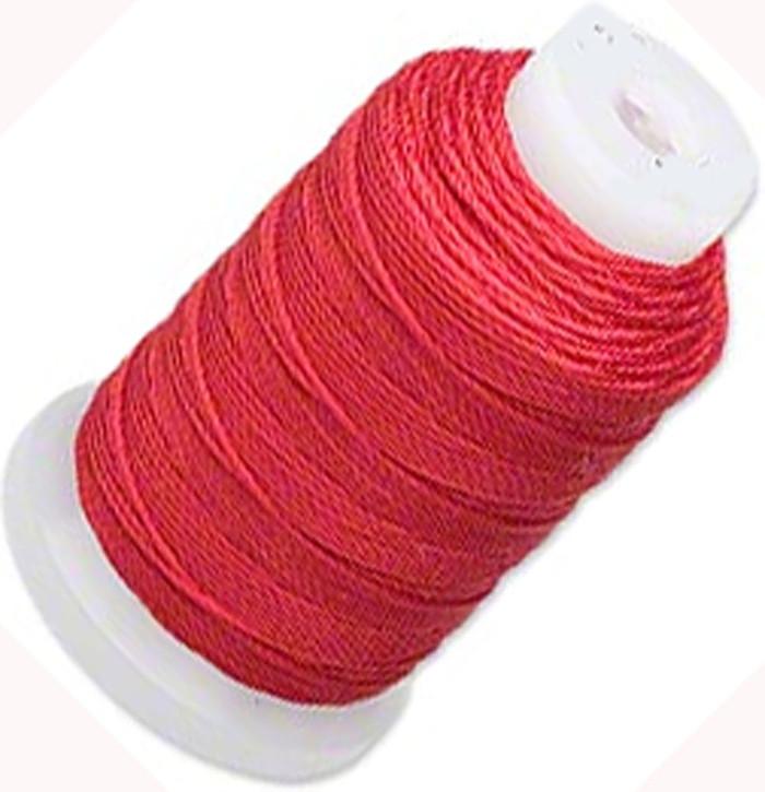 Silk Beading Thread Cord Size FF Red 0.015 Inch 0.38mm Spool 115 Yd
