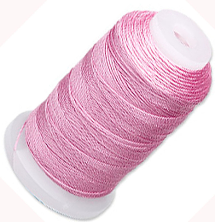 Silk Beading Thread Cord Size E Strawberry 0.0128 Inch 0.325mm Spool 200 Yd